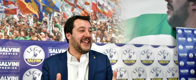 "Lega far right party leader Matteo Salvini gestures during a press conference held at the Lega headquarter in Milan on March 5, 2018 ahead of the Italy's general election results With his ""Italians first"" rallying cry and his tub-thumping against Islam and a ""migrant invasion"", Matteo Salvini has rebranded himself and his party, leading a far-right surge in Italy's election. The 44-year-old Salvini's League party was ahead of Silvio Berlusconi's Forza Italia (Go Italy) party within the main right-wing alliance which looked set to win the most votes on Sunday, according to early results. / AFP PHOTO / Piero CRUCIATTI"