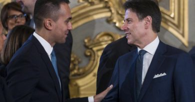 Italian Prime Minister Giuseppe Conte (R) with Italian Foreign Minister Luigi Di Maio during a new government swearing-in ceremony at the Quirinal Palace in Rome, Italy, 05 September 2019. ANSA/ANGELO CARCONI