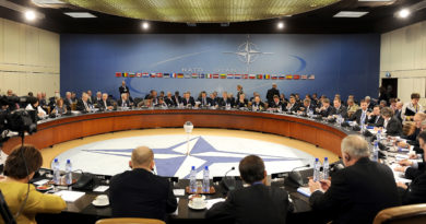 U.S. Defense Secretary Robert M. Gates and other NATO Ministers of Defense and of Foreign Affairs met together at NATO headquarters to give final political guidance in preparation for the meeting of Allied Heads of State and Government at the upcoming NATO Summit in Lisbon, Portugal in November in Brussels, Belgium, on Thursday October 14, 2010. DOD photo by Master Sgt. Jerry Morrison(RELEASED)