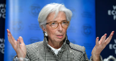 "International Monetary Fund (IMF) Managing Director Christine Lagarde speaks during a press conference on IMF World Economic Outlook ahead of the World Economic Forum (WEF) 2018 annual meeting, on January 22, 2018 in Davos, eastern Switzerland. The World Economic Forum (WEF) runs through January 23 - 26, focusing this year on the theme ""Creating a Shared Future in a Fractured World"".  / AFP PHOTO / Fabrice COFFRINI        (Photo credit should read FABRICE COFFRINI/AFP/Getty Images)"